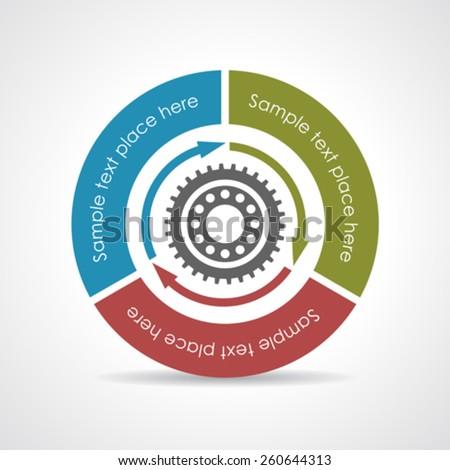 Process vector diagram  - stock vector