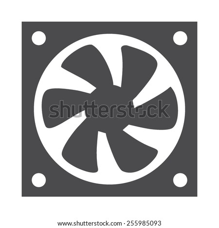 Processor Fan vector image to be used in web applications, mobile applications and print media. - stock vector