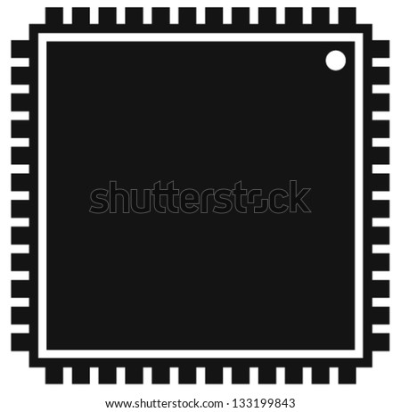 Processor - Microchip - SMD / SMT Chip - LGA unit - Surface Mount Technology - stock vector