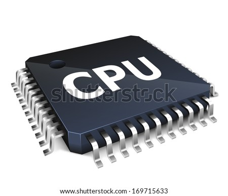 Processor unit concept isolated on white background - stock vector