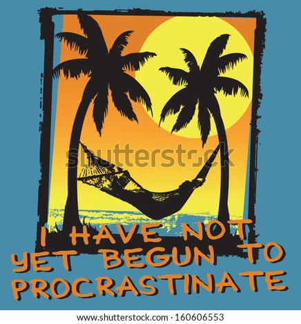 procrastinate - stock vector