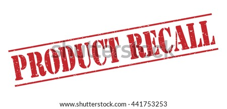 product recall vector stamp on white background - stock vector