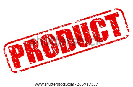 Product red stamp text on white - stock vector