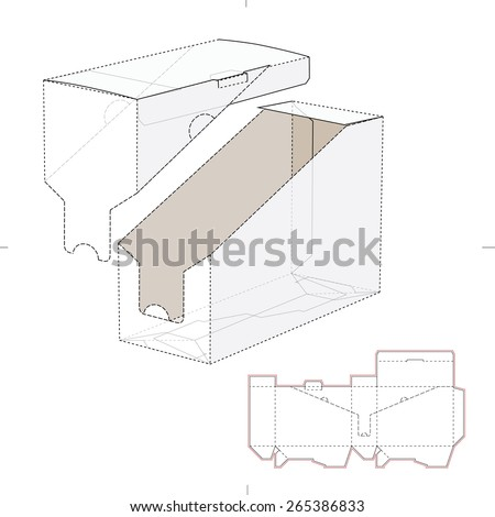 Product Shelf Box with Die Cut Template - stock vector
