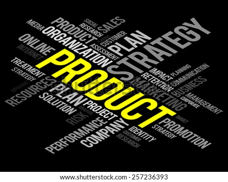 PRODUCT word cloud, business concept - stock vector
