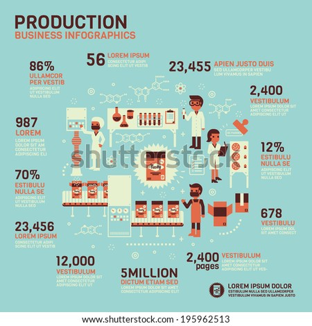 Production Infographics  - stock vector