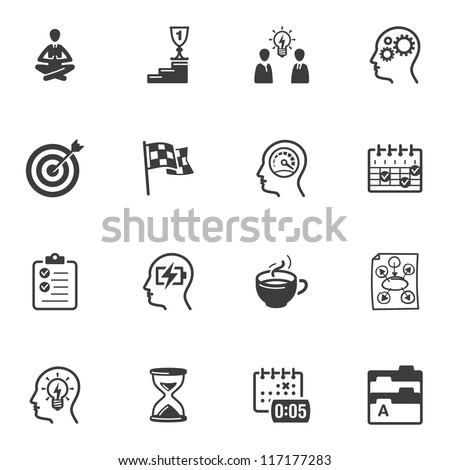 Productivity Improvement Icons - stock vector