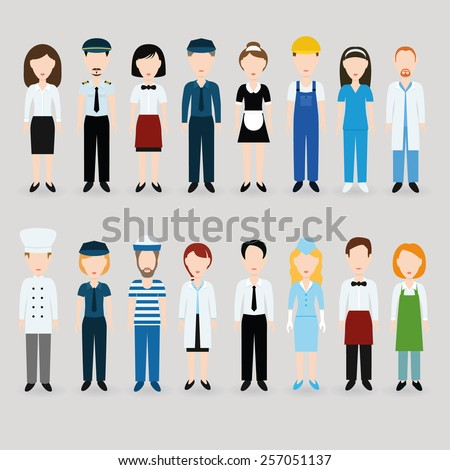 profession - stock vector