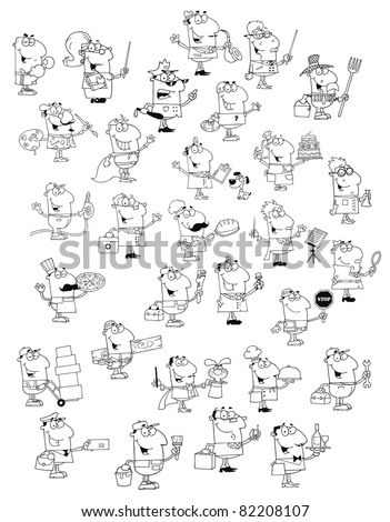 Profession People.Big Vector Collection - stock vector