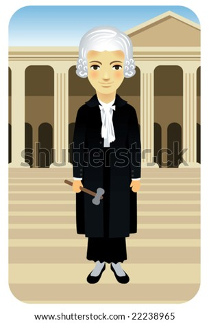 Profession series: Lady Justice - Visit our gallery for more professions. - stock vector