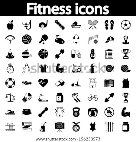 Professiona fitnessl icons for your website. Vector illustration. - stock vector