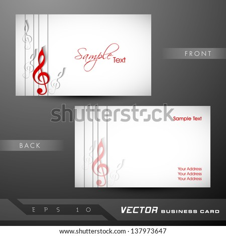 Professional and designer business card template or visiting card set. - stock vector