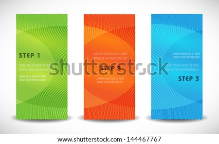 Professional and designer elegant cards. Product choice or versions. - stock vector