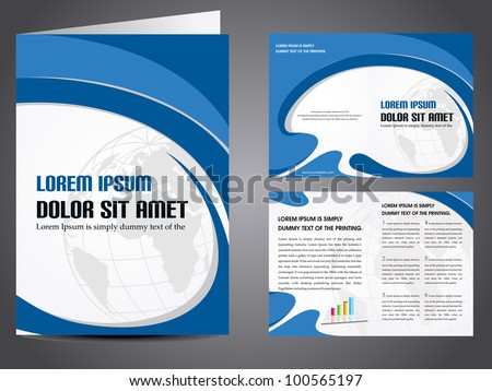 Professional business catalog template or corporate brochure design with inner pages for document, publishing, print and presentation. Vector illustration in EPS 10. - stock vector