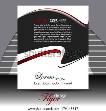 Professional business flyer template or corporate banner/design for publishing, print and presentation. - stock vector