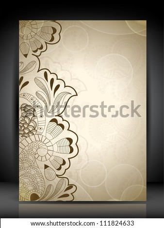 Professional business flyer template or corporate banner design with space for your text, can be use for publishing, print and presentation. Vector illustration in EPS 10. - stock vector