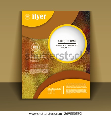 Professional business flyer template or corporate banner with abstract design for publishing, print and presentation. - stock vector