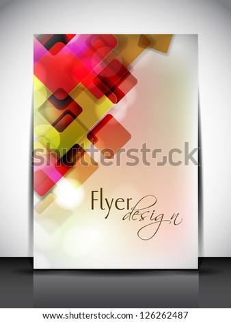 Professional business flyer template or corporate banner with colorful abstract design for publishing, print and presentation. - stock vector