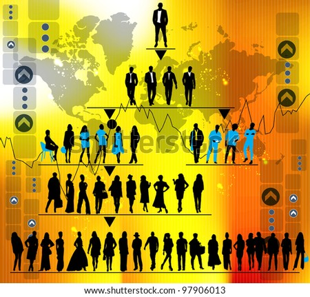 Professional business team - stock vector