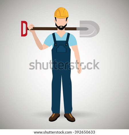 professional construction design  - stock vector