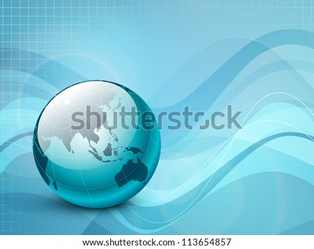 Professional Corporate or Business template for financial presentations showing globe. EPS 10. Vector illustration. - stock vector