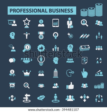 professional finances icons  - stock vector