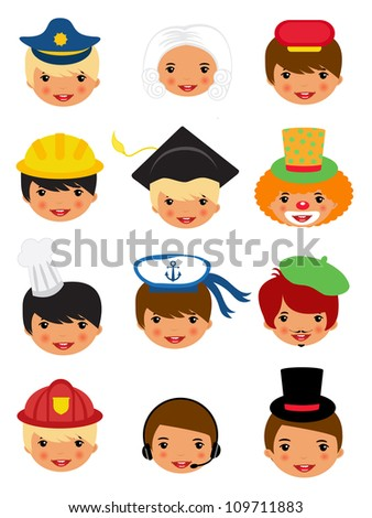Professional occupations icons - stock vector