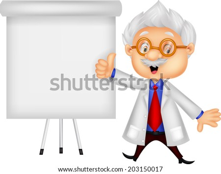 Professor teaching - stock vector