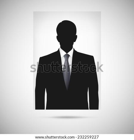 Profile picture whith tie. Unknown person silhouette, silhouette profile - stock vector