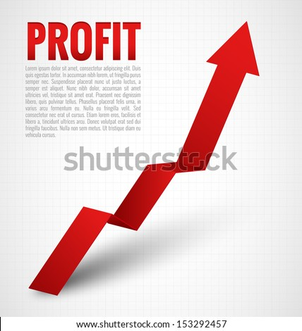Profit Graph Arrow - stock vector