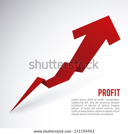 profit graphic design , vector illustration - stock vector