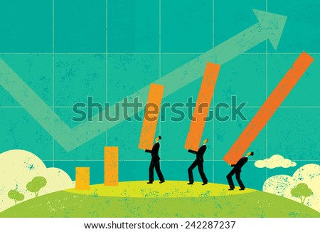 Profit Projections - stock vector