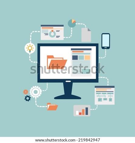 programmer  illustration - stock vector
