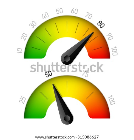 Progress indicator with percentage vector illustration - stock vector
