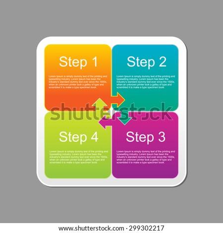 Progress steps infographics design template. - stock vector