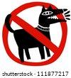 prohibited barking dog - stock vector