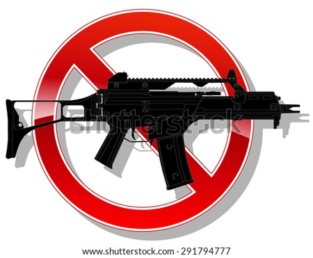 prohibited sign no weapon. vector illustration 2 - stock vector