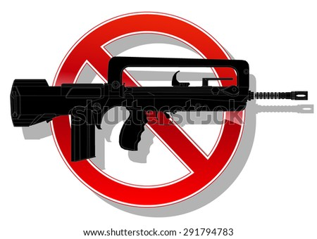 prohibited sign no weapon. vector illustration - stock vector