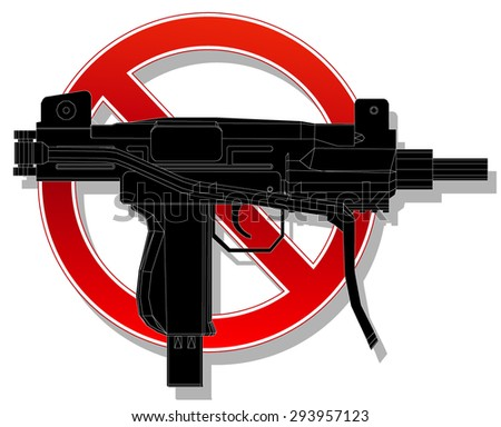 prohibited sign no weapon. vector illustration 4 - stock vector