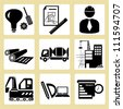 project management, civil engineering icon set - stock vector