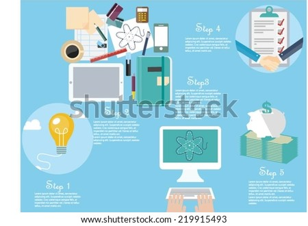 Project management concept - stock vector