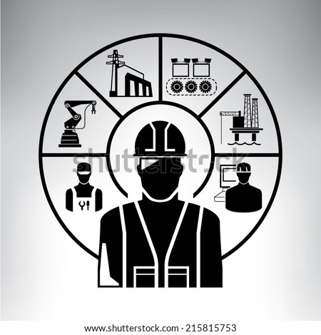 project management, engineering work concept - stock vector