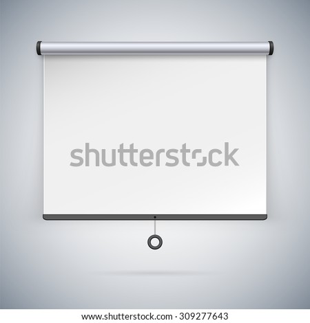 Projection Screen to Showcase Your Projects - stock vector