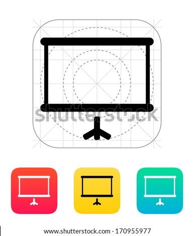 Projector screen icon. Vector illustration. - stock vector