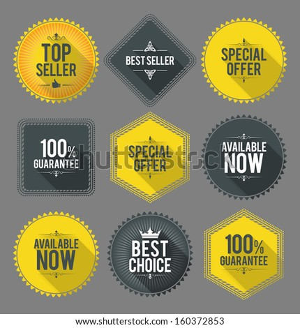 Promo badges and labels. EPS10. - stock vector