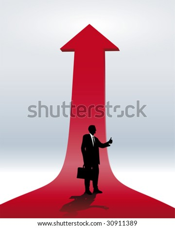 promotion and career - stock vector