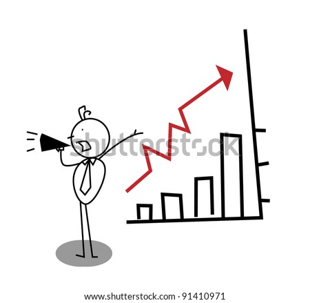 promotion Business Up Chart - stock vector