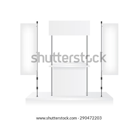Promotion counter and blank flag - stock vector