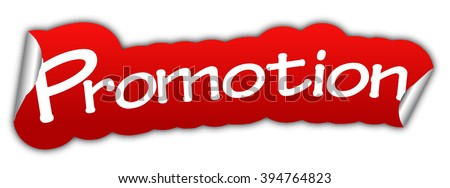 promotion, red vector promotion, red sticker promotion, paper sticker promotion, element promotion, sign promotion, design promotion, picture promotion, illustration promotion, promotion eps10 - stock vector