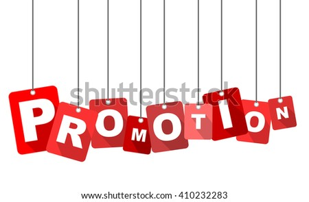 promotion, red vector promotion, red tag promotion, flat vector promotion, element promotion, sign promotion, design promotion, background promotion, illustration promotion, picture promotion - stock vector